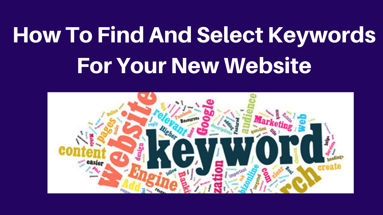 How to find competition and select keywords for your new website